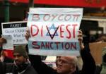 A BDS protester in Melbourne, Australia in 2010