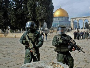 Soldiers at temple mount