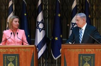 EU Foreign Affairs chief Frederica Mogherini and Israeli PM Benjamin Netanyahu, May 20, 2015. (Source: flickr user eeas)