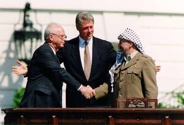 Signing of the Oslo Accords, September 13, 1993. (Vince Musi/The White House)