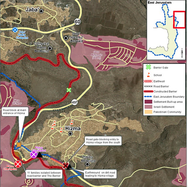 Kdumim Road Map West Bank on